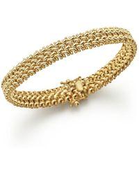 Bloomingdale's - 14k Yellow Gold Crisscross Bracelet - Lyst