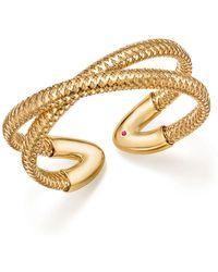 Roberto Coin - 18k Yellow Gold Primavera Crisscross Cuff - Lyst