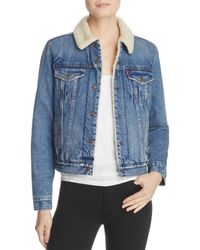 Levi's - Original Trucker Denim Sherpa-lined Jacket - Lyst