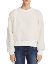 Rag & Bone - Teddy Fleece Sweatshirt - Lyst