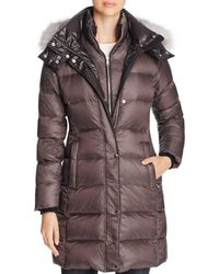 Andrew Marc - Skylar Fox Fur-trim Long Down Coat - Lyst