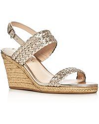 Via Spiga - Indira Metallic Espadrille Wedge Sandals - Lyst
