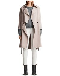 AllSaints - Bexley Mac Trench Coat - Lyst