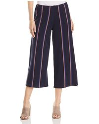NIC+ZOE - Lined Up Cropped Wide-leg Knit Trousers - Lyst