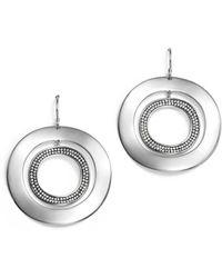 Ippolita - Sterling Silver Glamazon® Stardust Open Disc Pavé Diamond Drop Earrings - Lyst