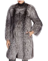 Maximilian - Maximilan Furs Leather-trim Fox Fur Coat - Lyst