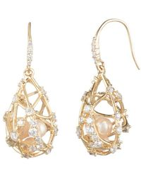 Carolee - Caged Cultured Freshwater Pearl Drop Earrings - Lyst