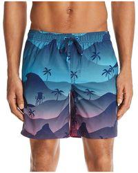 Sundek - Waves And Palms Swim Trunks - Lyst