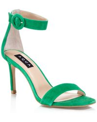 Aqua - Women's Seven Suede High Heel Ankle Strap Sandals - Lyst