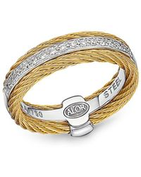 Alor - Diamond Two-tone Cable Ring - Lyst