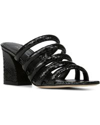 Donald J Pliner - Women's Wes Snake Embossed Leather Block Heel Slide Sandals - Lyst