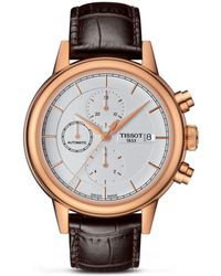Tissot - Carson Men's Automatic Rose Gold Pvd Watch Strap, 42mm - Lyst