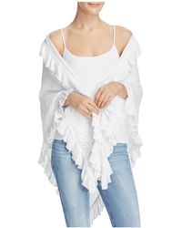 Minnie Rose - Ruffled Shawl - Lyst