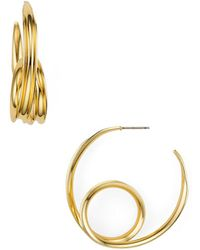 Aqua - Loop Hoop Earrings - Lyst