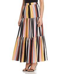 Tory Burch - Striped Cotton Maxi Skirt - Lyst