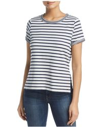 Marc New York - Performance Striped High-low Tee - Lyst