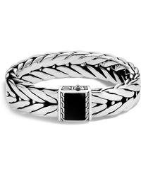John Hardy - Sterling Silver Modern Chain Extra Large Bracelet With Black Onyx - Lyst