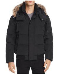 Marc New York - Cedar Fur-trimmed Hooded Bomber Jacket - Lyst