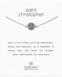 Dogeared - Saint Christopher Chain Bracelet - Lyst