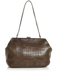 Steven Alan - Zander Medium Croc - Embossed Leather Satchel - Lyst