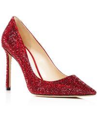 Jimmy Choo - Women's Romy 100 Swarovski Crystal Embellished Pointed-toe Court Shoes - Lyst