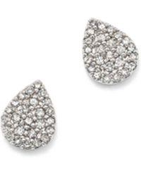 Adina Reyter - Sterling Silver Pavé Diamond Teardrop Stud Earrings - Lyst