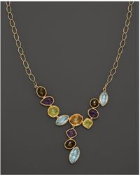 "Bloomingdale's - Multi Gemstone Necklace In 14k Yellow Gold, 18"" - Lyst"