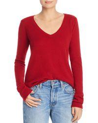 ATM - Cashmere V-neck Sweater - Lyst