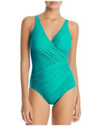 Miraclesuit - Must Have Oceanus Ruched One Piece Swimsuit - Lyst