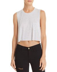 Project Social T - Save It Striped Cropped Tank - Lyst