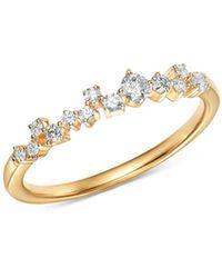 Adina Reyter - 14k Yellow Gold Scattered Diamond Row Ring - Lyst