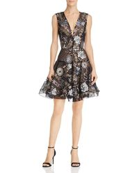 Bronx and Banco - Tiara Floral Embroidered Flare Dress - Lyst
