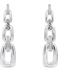 David Yurman - Wellesley Linked Chain Drop Earrings With Diamonds - Lyst