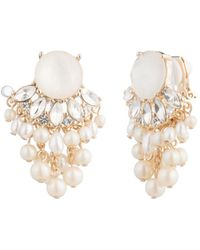 Carolee - Cultured Freshwater Pearl Cluster Clip-on Earrings - Lyst