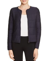 Majestic Filatures - Quilted Knit Crop Jacket - Lyst