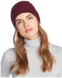C By Bloomingdale's - Ribbed Cashmere Cuff Hat - Lyst