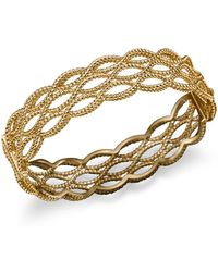 Roberto Coin - 18k Yellow Gold Triple Row Twisted Bangle - Lyst