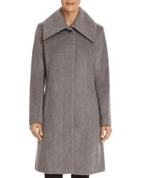Cole Haan - Envelope Collar A-line Coat - Lyst