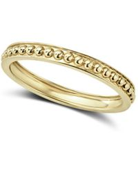 Lagos - Caviar Gold Collection 18k Gold Beaded Stacking Ring - Lyst