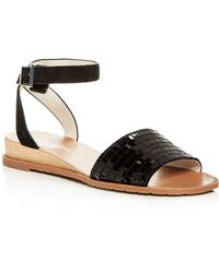 Kenneth Cole - Women's Jinny Suede & Sequin Demi Wedge Sandals - Lyst