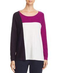 Donna Karan - New York Lightweight Color Block Sweater - Lyst
