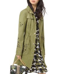 MICHAEL Michael Kors - Butterfly-embroidered Cargo Jacket - Lyst