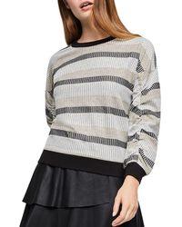 BCBGeneration - Metallic-stripe Sweater - Lyst