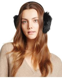Surell - Rabbit Fur Ear Muffs - Lyst