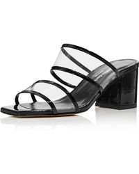 Charles David - Women's Cally Patent Leather Illusion Block Heel Slide Sandals - Lyst