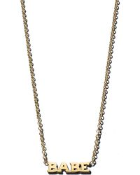 Zoe Chicco - 14k Yellow Gold Itty Bitty Babe Necklace - Lyst