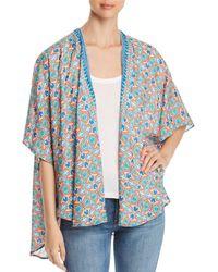 Tolani - Printed Open-front Kimono Cardigan - Lyst