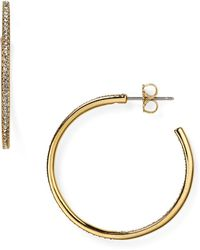 Nadri | Pavé Hoop Earrings | Lyst