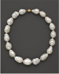 """Bloomingdale's - Baroque Freshwater Pearl Necklace In 14k Yellow Gold, 17"""" - Lyst"""
