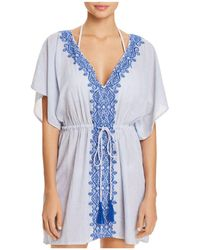 Ralph Lauren - Lauren Embroidered Tunic Swim Cover-up - Lyst